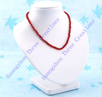 Wholesale 2pcs mm White Leather Bust Necklace Jewelry Display Stand Holder Fashion Jewelry Display