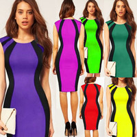 Clubwear Shirred Spandex Wholesale - 2014 Bandage Dress Sexy Bodysuit Club Wear Stage Wear Celebrity Bandage Bodycon Dresses Celebrity Spandex Dress More Colors 4028