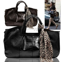 Wholesale 2014 new Ladies Women Crocodile Skin Print Leather Shoulder Bag Handbag Clutch Tote Case bx79