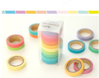 Wholesale 50 New high quality bright candy solid color washi masking tape washi tape paper tape