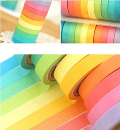 New high quality bright candy solid color washi masking tape washi tape paper tape