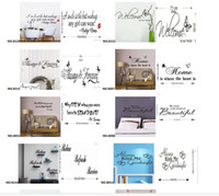 Wholesale New Arrivals Mix Order Quote Wall Decals Removable Vinyl Wall Art Stickers Decals