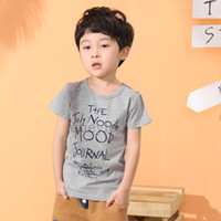 Boy Summer Standard Children Clothing 2014 Summer Baby Boys T-shirt O-neck Short Sleeves Summer Outfit Cool Style Character Tee 4Colors 4PCS Lot Drop Shipping