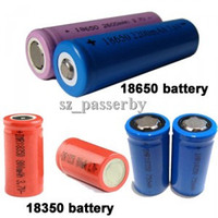 Electronic Cigarette Battery  18650 2200mAh 18350 900mah Rechargeable Lithium Battery For Vamo V2 V3 V4 V5 VMAX K100 Mechanical Mod Battery Electronic Cigarette Mod DHL