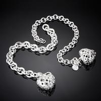 Wholesale Newest Silver Charmed Bracelet Never Fade Fashion Woman Man Gemstone Jewelry Silver Heart Shape Sweet Gift DW11