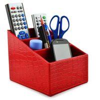 Wholesale Sgsnl5 Pu Leather Remote Control controller Tv Guide mail cd Organizer caddy holder Home Organizer Desk Organizer