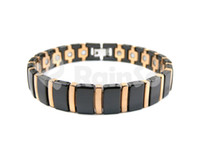 Wholesale Fashion Jewelry Magnetic Ceramic Bracelet With Stainless Steel Rose Gold Plated quot ORB C
