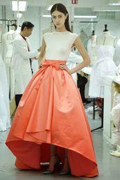Wholesale Replicate Elie Saab Evening Dresses Cap Sleeves High Low Two Colors Celebrity Dresses
