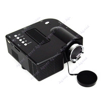 Wholesale Portable Mini Multimedia LED Projector For Home Theater Computer Displayer Black