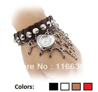 Women's arabic belly dance - 10 Belly dance Bracelet Watch Indian arabic ethnic women leather watch dress wristwatch heart charm brooch