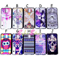 Wholesale Cute Cartoon Animal Series Skull Skeleton tribe Bird angry tiger Owl Hard Plastic Back Case Cover For Samsung Galaxy S5 S i9600