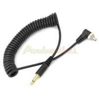 Wholesale 3 mm to PC Sync Studio Flash Trigger Cable for C1 C3 N1 N3 Black cm