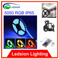 Wholesale RGB Led Strip Waterproof M SMD LEDs CE ROHS keys IR Remote V A Adapter change to white blue green red