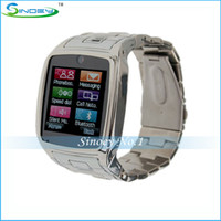 Cheap best sale TW810 smart watch phone touch screen single sim cards camera bluetooth MP3 MP4 skype cellphone with black gold and silver