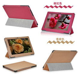Silk skin stand folio leather case cover skin shell for Lenovo S6000 3G version fashion stand case