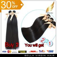 Straight discount remy hair - Peruvian Virgin Hair Remy Human Hair Top Quality A Silky Straight Bleachable Hair Extensions Queen Hair Bellahair Discount Buy Get