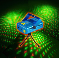 Wholesale Freeshipping MW Mini Red amp Green Moving Party Laser Stage Light laser DJ party light Twinkle V Hz With Tripod lights by Fedex