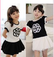 Wholesale Girls dress children dress Girls Summer clothes High end embroidery Short sleeve dress girl clothes