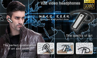 Wholesale 2014 Newest V22 H P Bluetooth Earphone Headset HD Mini Hidden DVR Camera Camcorder Max To GB G G choose