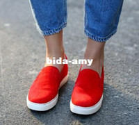 Wholesale 2014 Spring Fshion Snake Round Toe Slip On Flat Sneakers Loafers Top Quality Red Horsehair Skateboard Woman Shoes