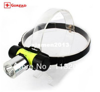 Wholesale Goread CREE XM L T6 Lumens led Diving Headlamp Magnetic control switch models for AAA or