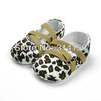 Wholesale pretty leopard print design shoes for baby girl wear children elastic band shoes first walkers shoes pair