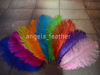 Wholesale Ostrich Feather Plume inch Royal Blue Pink Purple Orange Yellow Black Red Fushia Green Wedding centerpiece table Decoration
