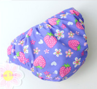 Wholesale sun store Baby Girl Swim Diapers Purple Strawberry Month Lovely Kids Swimwear