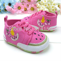 Boy Summer Cotton FREE SHIPPING----toddler soft sole shoes pretty casual canvas shoes for baby girl foot wear shoes children prewalker 1pair