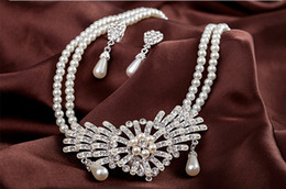Wholesale Luxurious Crystal Jewelry Fashion Chain Necklace and Jewelry Earings Bridal Wedding Accessories Bridal Jewely Sets