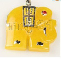 Other Fashion Charms Pretty Yellow Jade Woman's Elephant Pendant