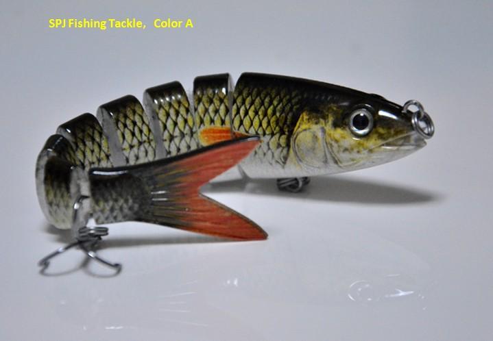 140mm/19g 8 segments herring swimbait wobbler real life like, Hard Baits