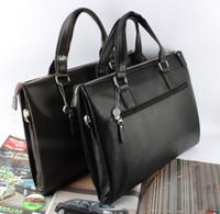 Wholesale 2014 new fashion mens leather briefcase high quality PU leather bags laptop bag attache case men OL business handbag shoulder bag cross bag