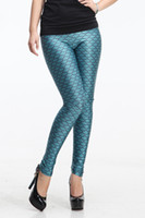 Leggings Skinny,Slim Long 2014 Hot Sale! Sexy Ladies Novelty Mermaid Fish Scale Green Shimmer Stretchy Leggings LB13082 S M L XL Free Shipping