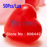 Wholesale 50Pcs Assorted Colors Wedding Birthday Party Decoration Heart Shaped Latex Balloons