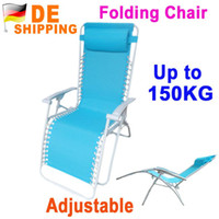 wood Beach Chair Outdoor Furniture DE Stock To DE Folding Adjustable Recliner Chaise Lounge Beach Nap Chair Blue Bed for Outdoor Camping DHL Free Ship