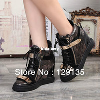 Wholesale GZ high shoes new serpentine sheet metal within the higher women s casual shoes