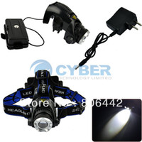 Wholesale CREE XM L T6 LED Lum Headlamp Headlight Bike Bicycle Light Zoomable Charger TK0281
