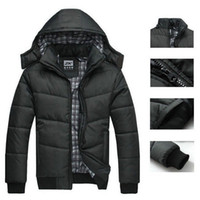 Jackets Men Cotton Men's winter Hoodies quilted jacket warm fashion male puffer overcoat parka Outwear Winter cotton padded hooded down coat