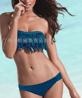 Wholesale Tassel strapless sexy bikini swimwear promotion of foreign trade factory direct bikini