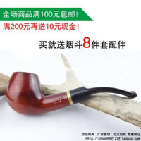 other bent china Smoking pipe red sandalwood smoking pipe briar smoking pipe smoking set 8 piece set 010