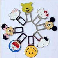 automotive belt buckles - Automotive safety seat belt buckle cute cartoon card inserts plug keychain latch two shipping