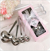Wholesale 100sets Love Beyond Measure Heart Measuring Spoons in Gift Box_Pink Wedding Favors