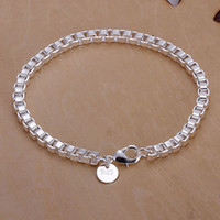 Wholesale H172 Retail lowest price silver bracelet silver fashion jewelry Box Bracelet