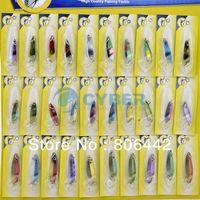 Wholesale 30Pcs Super Fishing Lures Crankbait Bass Baits Hooks Fishing Tackle NK30 TK0813