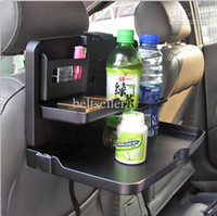Plastic   Portable folding Car multi-functional desk table seat mount multi tray Food table meal Desk Drink Cup Holder free shipping