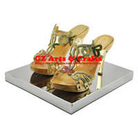 Wholesale New Stainless Steel Mirror Shoe Rack Shoe Counters Shoe Store Display Props Supplies