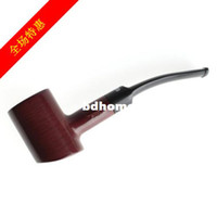 other Straight Type  Mahogany handmade smoking pipe wood 3mm filter cartridge briar rosewood gift