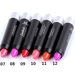 Lipsticks Pencle 12 Colors box Rotatable High quality Lipstick Pen Crayon Lipstick Set Lip Balm LS919