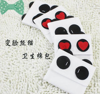 Non-woven Admission package sanitary napkins Eco Friendly Wholesale - Free shipping!Free shipping! Cute panda Face panda napkin bag lovely panda sanitary napkins package Cotton bag pouch